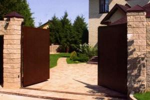 распашные ворота в Саранске, распашные ворота Саранск