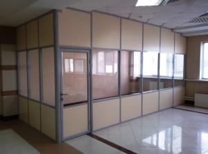 Офисная перегородка стекло ЛДСП
