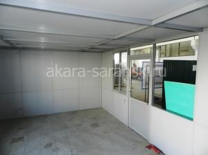 Офисное помещение из алюминиевого профиля с потолочным перекрытием