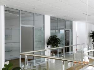 Офисные перегородки с матированными вставками