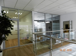 Офисные перегородки с матированным стеклом(1)