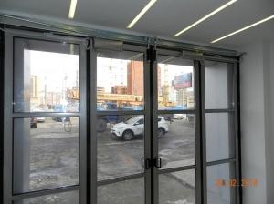 Складные ворота с приводами FAAC