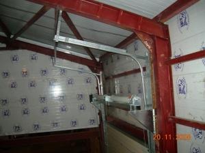 Промышленные секционные ворота (монтаж наклонный)