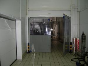 Распашные пленочные ворота DoorHan